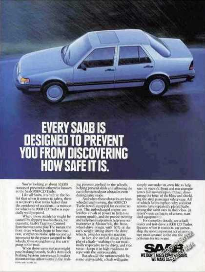 "Saab 9000 Cd Turbo ""We Don't Make Compromises"" (1992)"