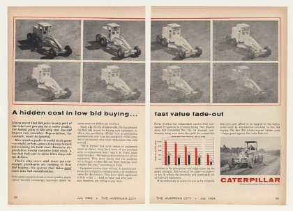 Caterpillar Motor Grader Best Bid Buying 2-Page (1964)