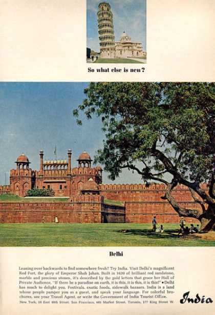 India Tourist Office Delhi Red Fort (1964)
