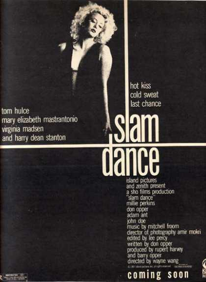 Slam Dance (Tom Hulce, Mary Elizabeth Mastrantonio, Virginia Madsen and Harry Dean Stanton) (1987)