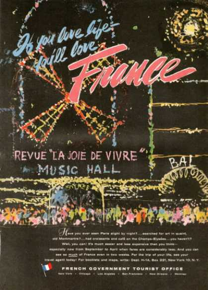 Paris French Travel Revue Music Hall (1955)