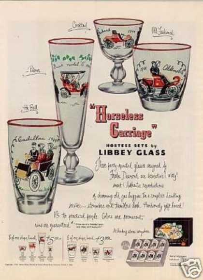 "Libbey Glass Ad ""Horseless Carriage"" (1950)"