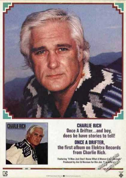 "Charlie Rich Photos ""Once a Drifter"" (1980)"