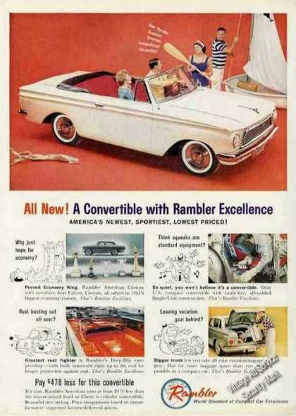 White Rambler Convertible Photo (1961)