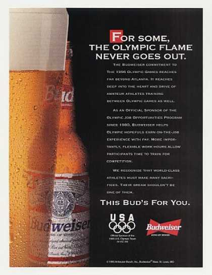 Budweiser Beer Olympic Flame Never Goes Out (1995)