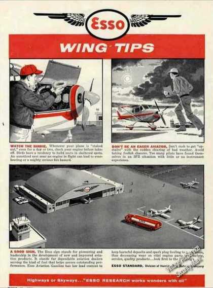 "Esso Wing Tips ""Watch the Birdie"" Aviation (1960)"