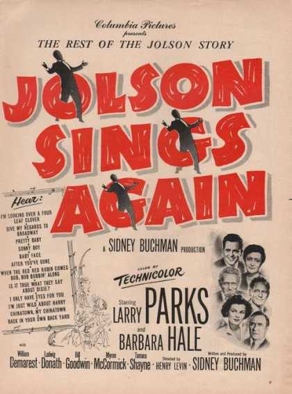 Columbia Pictures Jolson Sings Again (1949)