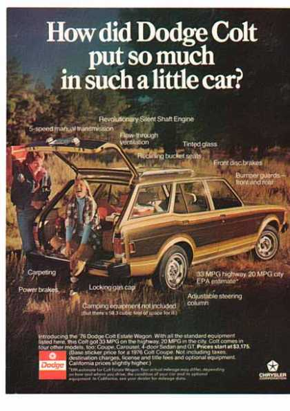 Dodge Car – Colt Estate Wagon – Gold w/ wood panels (1976)