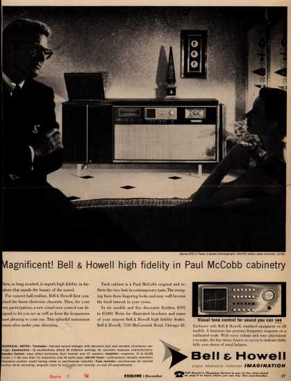Bell & Howell's Radio – Magnificent! Bell & Howell High Fidelity in Paul McCobb Cabinetry (1956)
