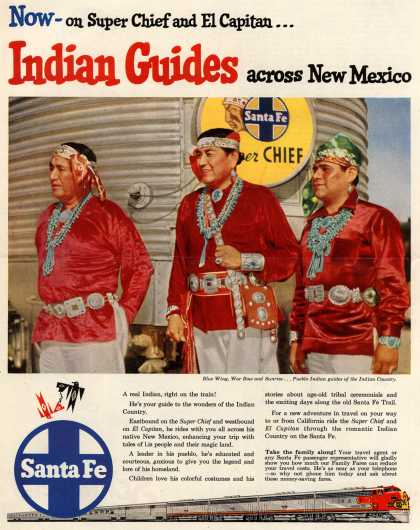 Santa Fe Railway's Santa Fe – Now on Super Chief and El Capitan... Indian Guides across New Mexico (1954)