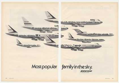 Boeing 747 747SP 747C 737 747S 721 707 2-Page (1974)