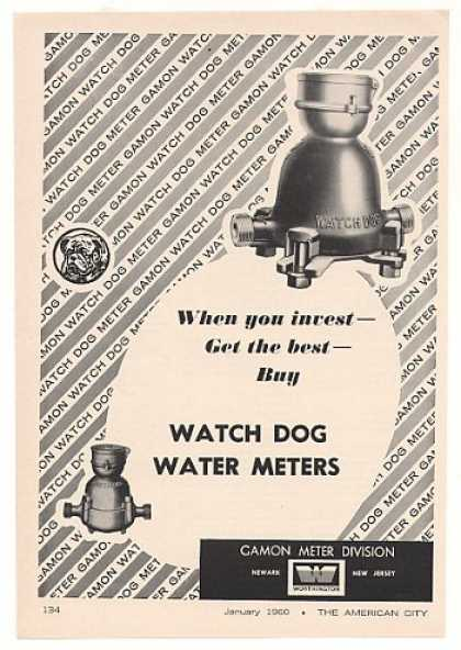 Gamon Watch Dog Water Meter (1960)