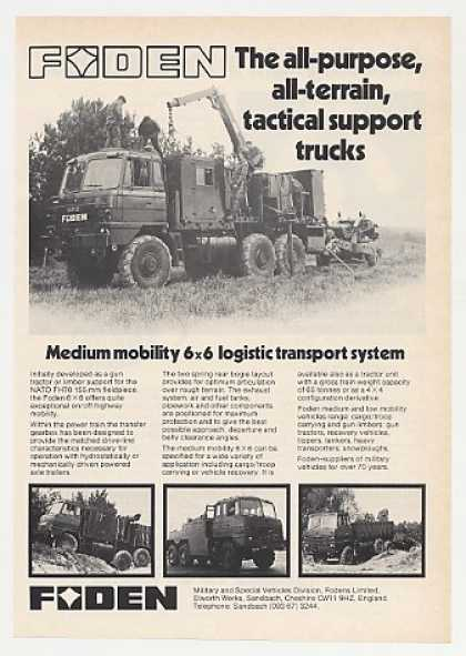 Foden 6x6 All-Terrain Tactical Support Truck (1980)