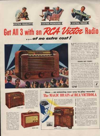 Rca Victrola the Magic Brain Radio Print A (1941)