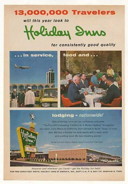 Holiday Inn Good Quality Service Food Lodging (1963)