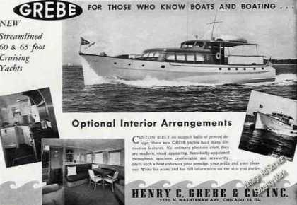 Grebe 60&65 Cruising Yacht Photos Boat (1947)
