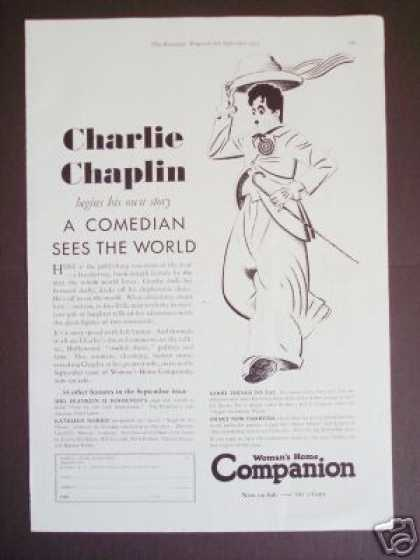Charlie Chaplin Story Advertisement Illustration (1933)