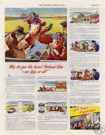 "Borden's Ad ""Why, It's Just Like Home... (1941)"