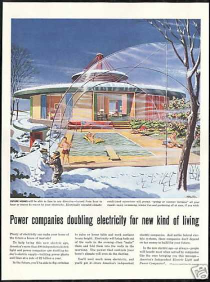 Futuristic Rotating Home Miller Art IEL & PC (1956)