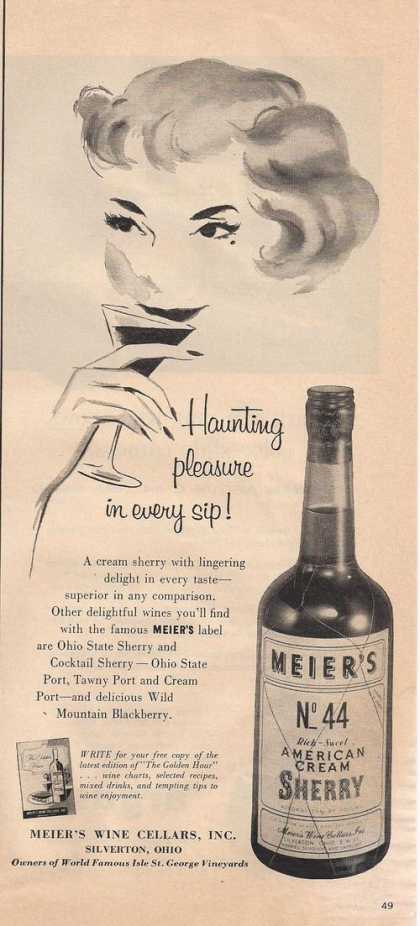 Meiers No 44 American Cream Sherry (1957)