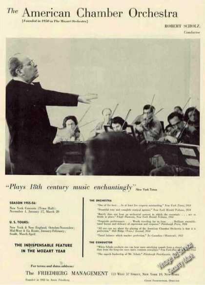 Robert Scholz Photo American Chamber Orchestra (1955)