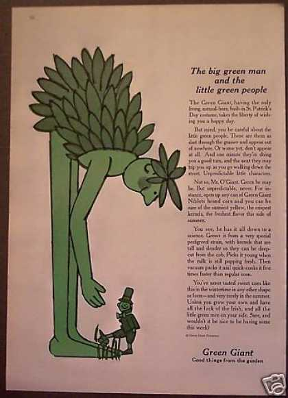 Mr. O'giant Green Giant Niblets Corn (1962)