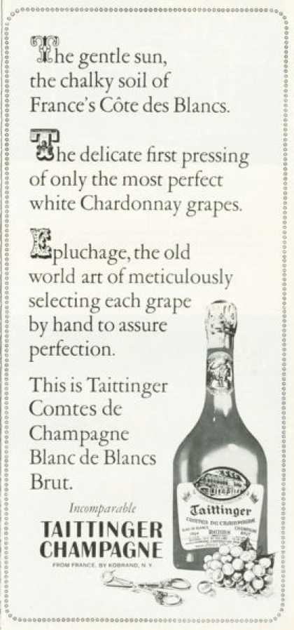 Taittinger French 1964 Champagne (1972)