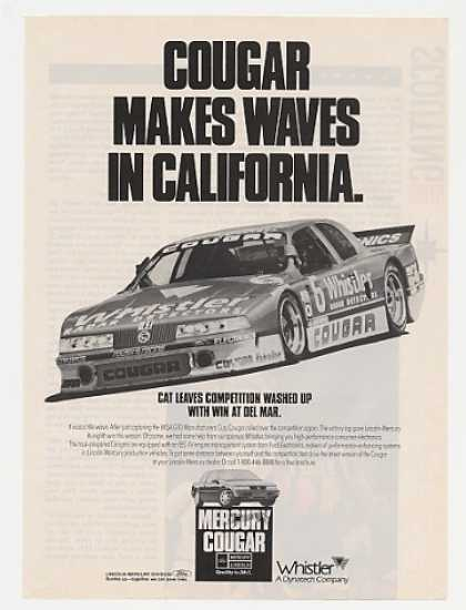 Mercury Cougar Wins Del Mar Racing Race Car (1990)