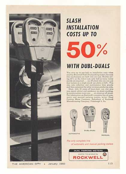 Rockwell Dubl-Dual Parking Meters (1960)