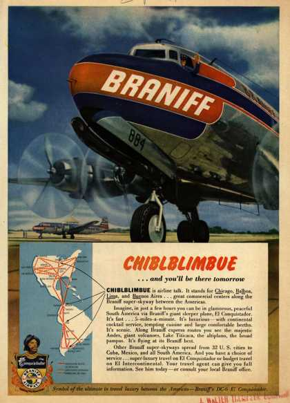 Braniff International Airways – CHIBLBIMBUE (1950)