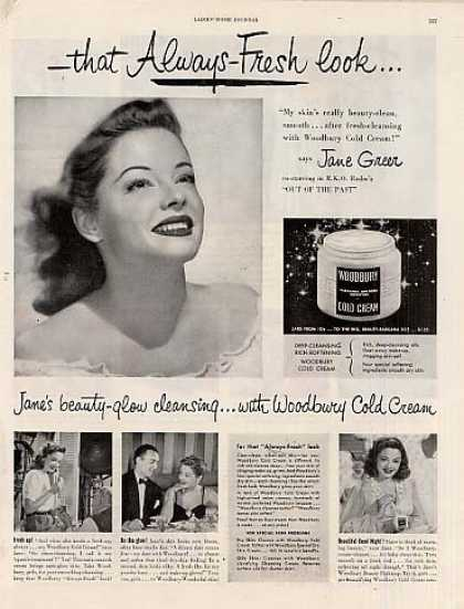 Woodbury Cold Cream Ad Jane Greer (1947)