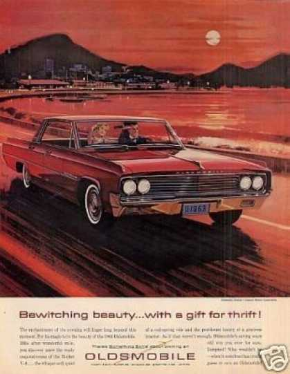 "Oldsmobile Car Ad ""Bewitching Beauty... (1963)"