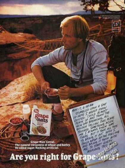 Are You Right for Grape-nuts? Camper Eating (1985)