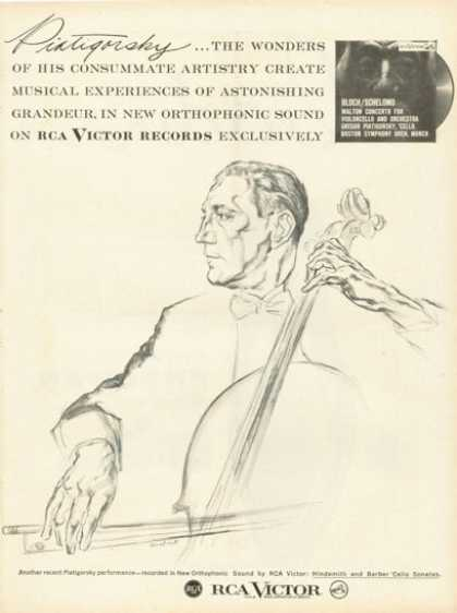 Rca Victor Records Ad Piatigorsky Cello Sonatas (1958)