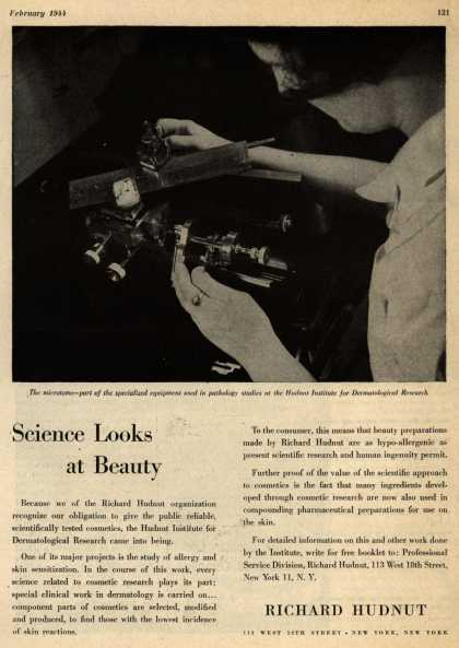 Richard Hudnut – Science looks at Beauty (1944)