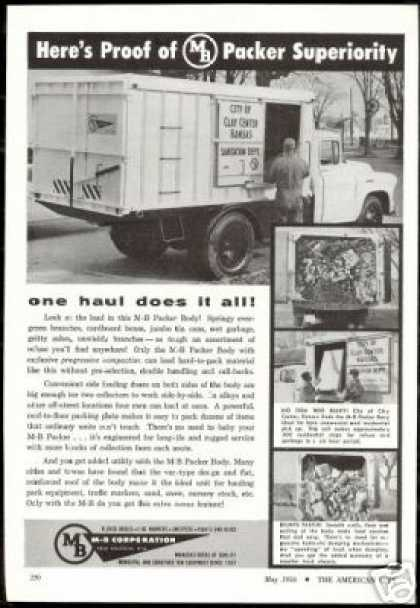 MB M-B Packer Body Kansas Garbage Truck (1956)