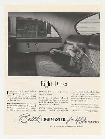 Buick Roadmaster Right Dress Interior Fox Fur (1949)