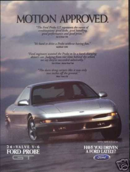 Ford Silver Probe GT Photo Print Car (1994)