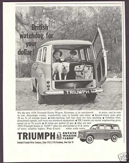 Triumph Estate Wagon English Bulldog Photo (1958)