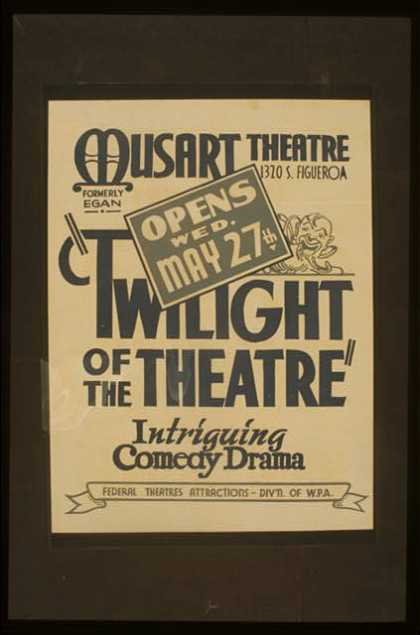 """Twilight of the theatre"" – Intriguing comedy drama. (1942)"