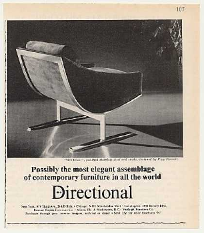 Directional Arc Chair Kipp Stewart Design Photo (1970)