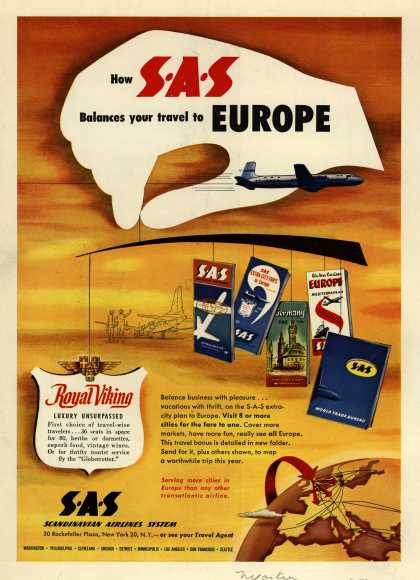 Scandinavian Airlines System – How SAS balances your travel to Europe (1953)