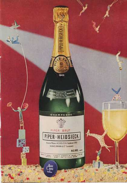 Piper Heidsieck Champagne Bottle (1953)