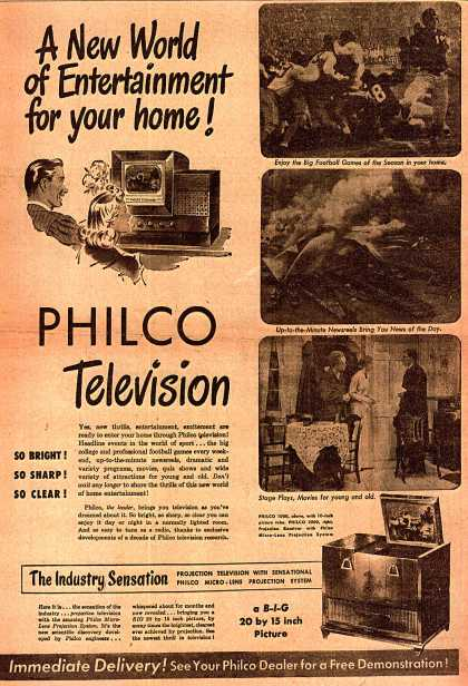 Philco's Television – A New World of Entertainment for your home (1947)