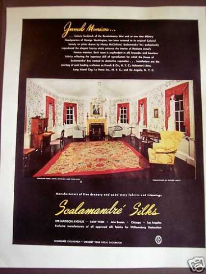 Scalamandre Silks for Jumel's Mansion (1946)