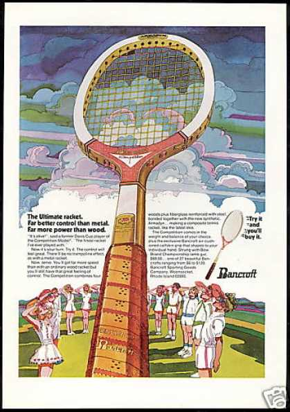 Bancroft Competition Tennis Racket Art (1974)