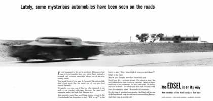 Edsel teaser from July 1957 (1958)