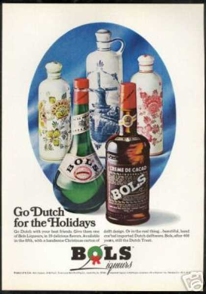 Bols Liqueur Dutch Delftware Bottles (1969)