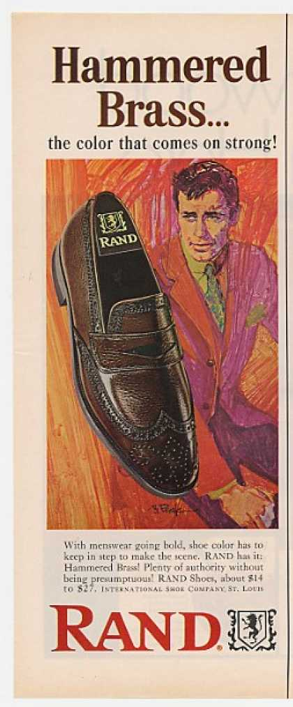 Rand Hammered Brass Shoes Bob Peak art (1967)