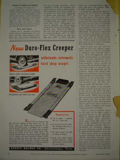 Ernest Holmes Co. Duro Flex Creeper Automotive (1940)
